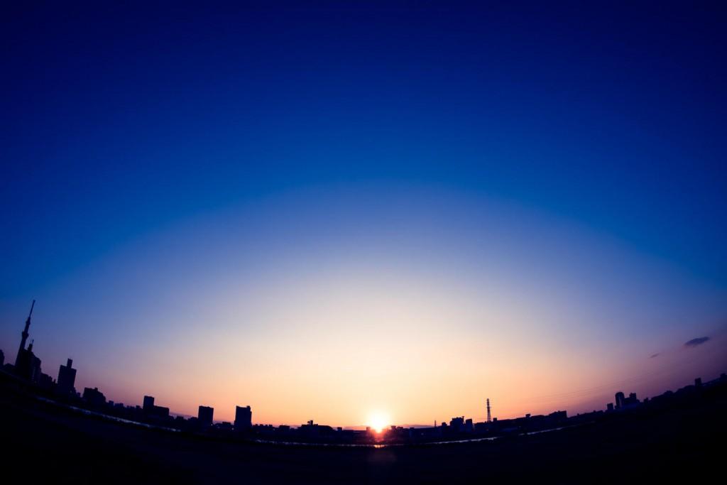 朝日 太陽