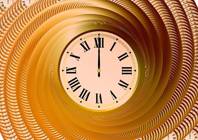 時計ぐるぐる