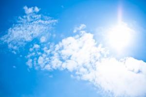 真夏の太陽・日差し