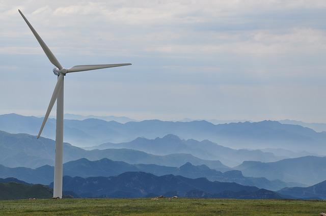 早朝 風力発電